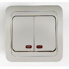 Выключатель 2кл с подсветкой CLASSICO  белый 2123